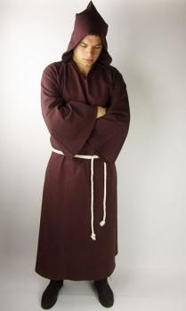Mönchskutte mit Kordel